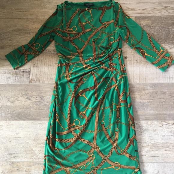 672d992c712a8 Lauren Ralph Lauren Dresses   Skirts - Ralph Lauren 8 Chain Equestrian  Dress Pretty EUC